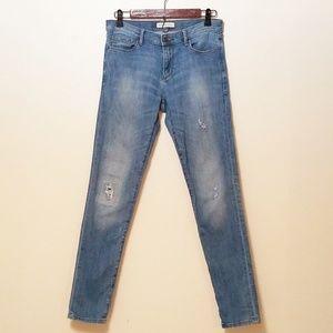 Banana Republic Distressed Skinny Jeans 28L